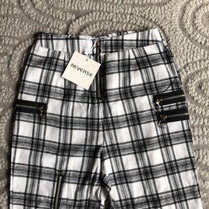 Tiger Mist Pants - Black and white plaid pant